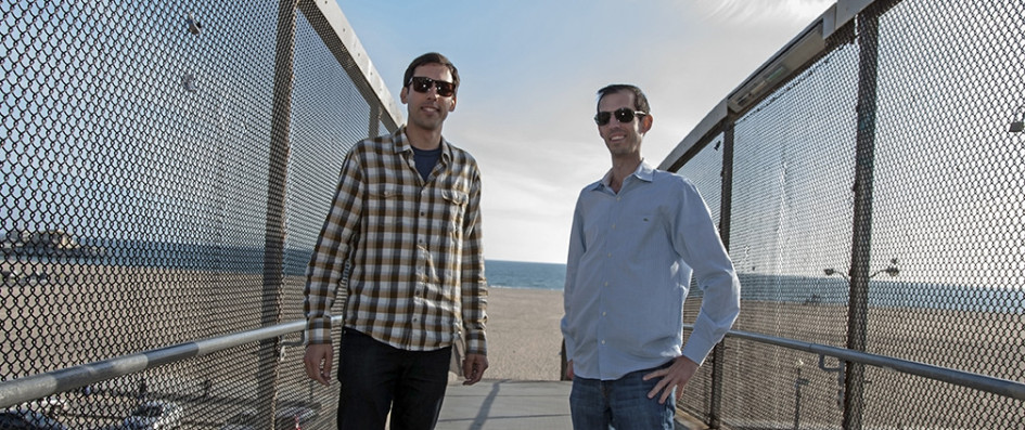 co founders kenny and adam overlooking the santa monica beach only six blocks from the office intuitive company office photo